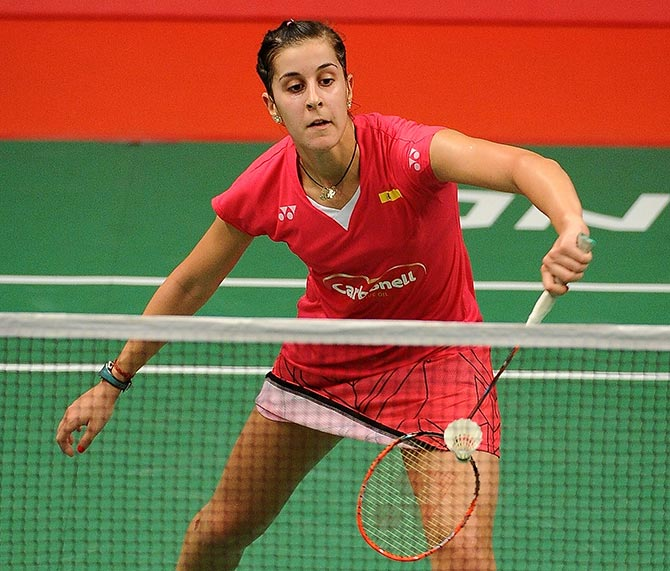 The Spaniard tore the anterior cruciate ligament in her right leg during the final of the Indonesia Masters in January and had to undergo surgery and a lengthy rehabilitation before returning to court.