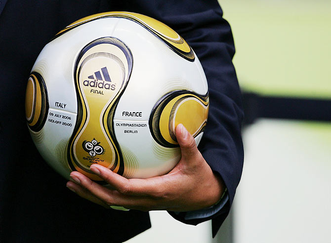 A view of the match ball prior to the FIFA World Cup Germany 2006 Final match between Italy and France at the Olympic Stadium in Berlin on July 9, 2006