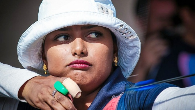 India's Deepika Kumari in action