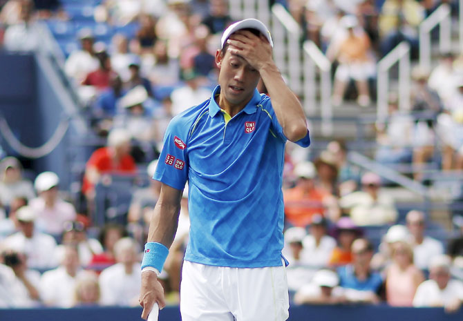 Kei Nishikori has not played since losing in the third round of the US Open in August
