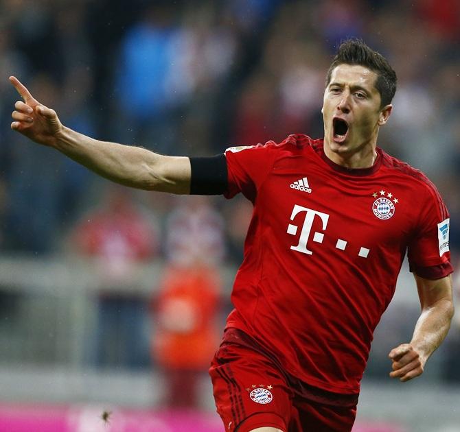 Bayern Munich forward Robert Lewandowski has scored 33 goals so far this season