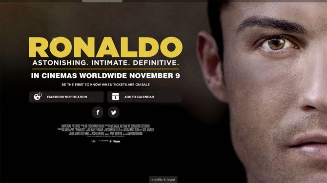 The poster of the film 'Ronaldo'