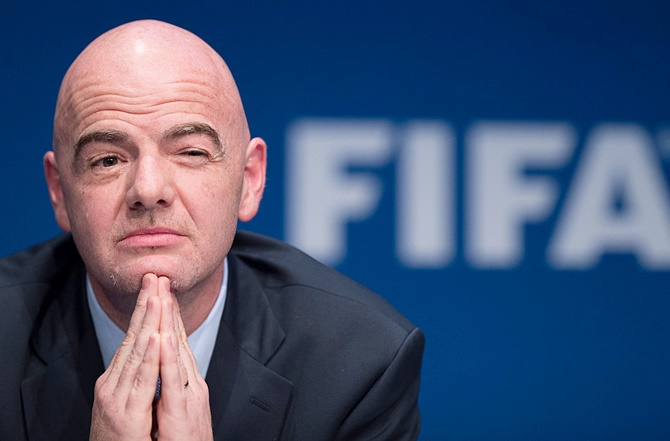Rediff Sports - Cricket, Indian hockey, Tennis, Football, Chess, Golf - Football Extras: Infantino is sole candidate for president