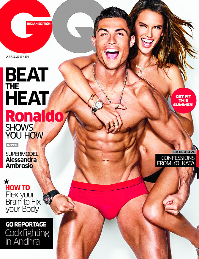 Football star Cristiano Ronaldo with model Alessandra Ambrosio