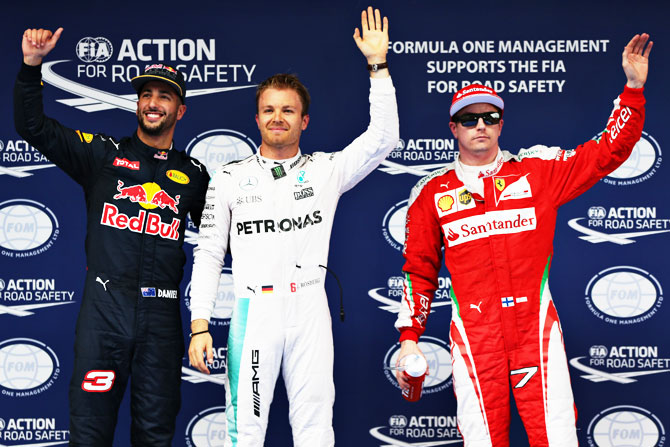 F1 qualifying: Rosberg on pole in China, Riccardio surprise 2nd