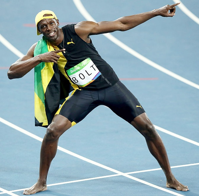 Jamaica's Bolt makes history in Rio; wins third successive ...