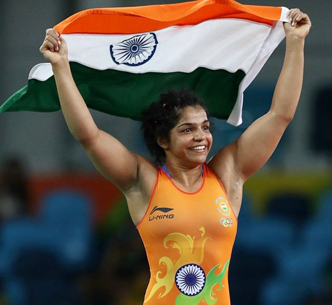 In wrestling, Indians continued their complete domination by clinching four gold medals with Olympic bronze medallist Sakshi Malik leading the charge.
