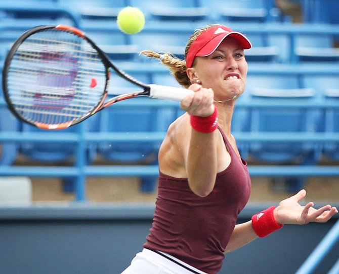 Kristina Mladenovic of France