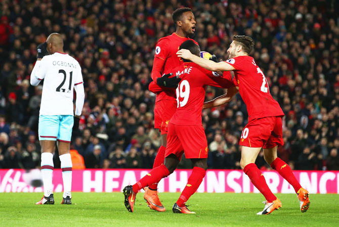 EPL PIX: Origi spares Liverpool blushes against West Ham