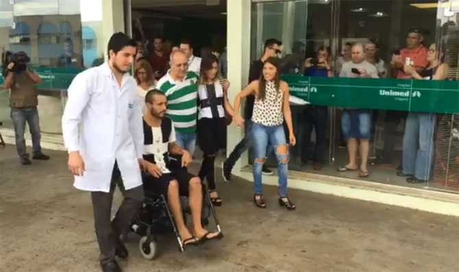 Chapecoense full back Alan Ruschel gets discharged from hospital on Saturday