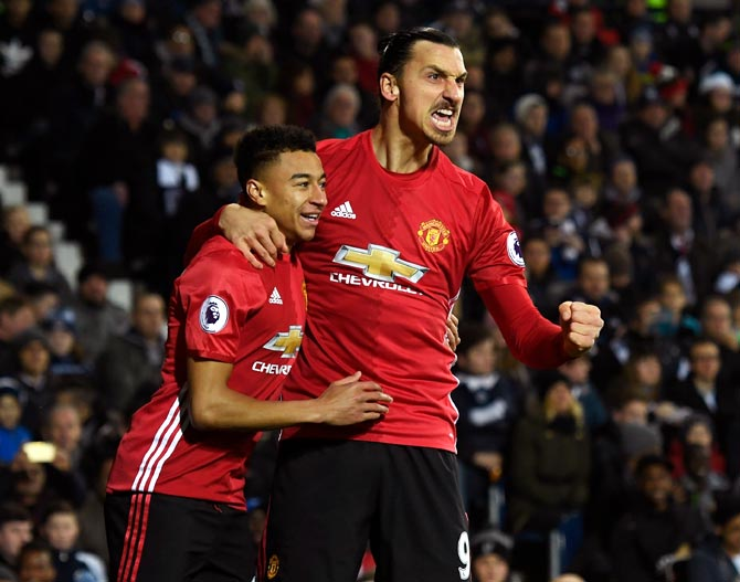 PHOTOS: Ibrahimovic double lifts United to victory