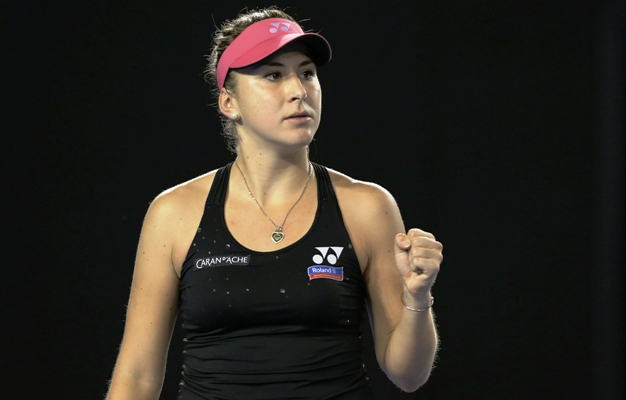 Switzerland's Belinda Bencic took just 56 minutes to beat Australian Destanee Aiava to reach the second round of the Charleston Open in South Carolina