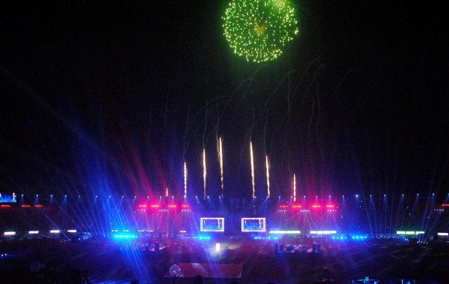 A scene from the closing ceremony of the 12th South Asian Games