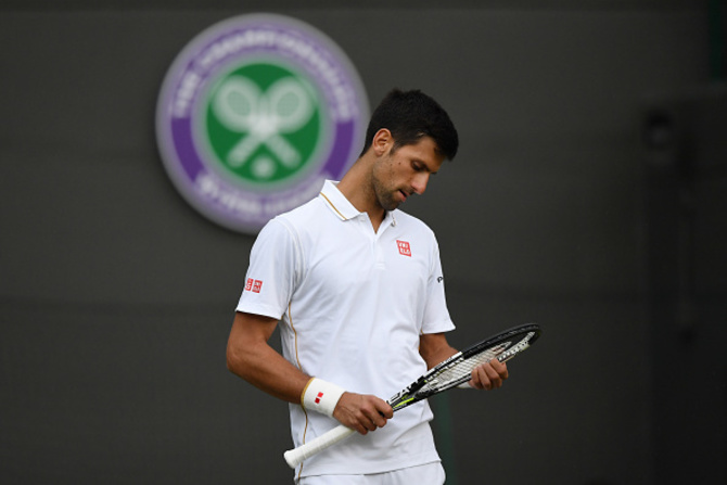 Novak Djokovic after his shocking defeat against Sam Querrey at 2016 Wimbledon