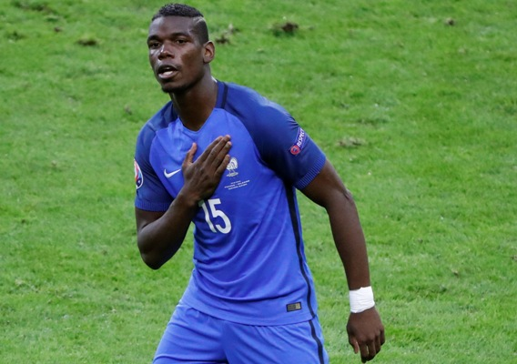 ced4860bb IMAGE  France s Paul Pogba celebrates after scoring the second goal against  Iceland. Photograph  Charles Platiau Reuters.