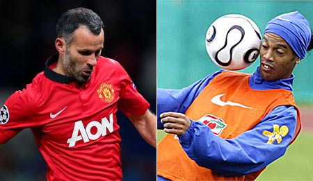 Ryan Giggs and Ronaldinho