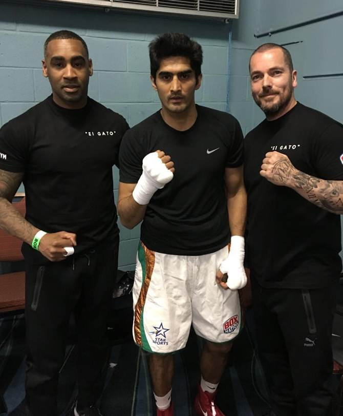 Vijender Singh and Lee Beard