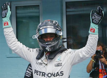 Rosberg on pole for home German grand prix