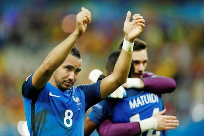 Dimitri Payet celebrates after France beat Romania in the opening match of Euro 2016