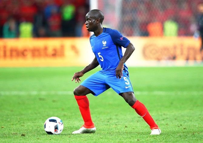N'Golo Kante has '15 lungs' according to France teammate Paul Pogba. Photograph: Alex Livesey/Getty Images