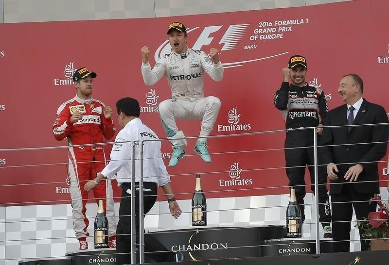 Nico Rosberg cruises to victory in Azerbaijan