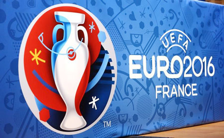 Logo for the upcoming Euro 2016 soccer championships