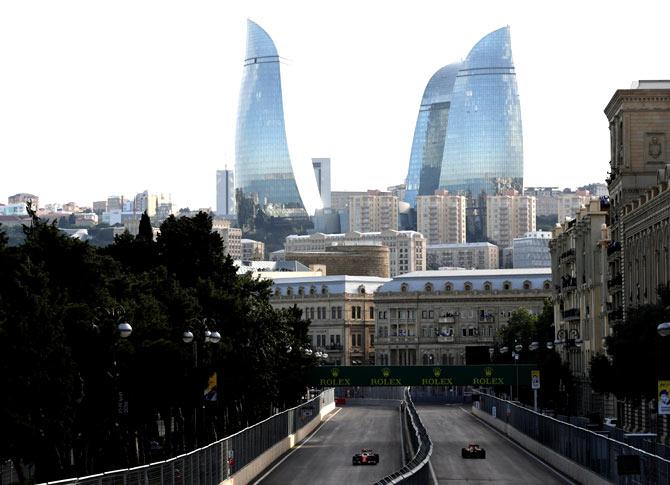 Braced for mayhem, Formula One plays safe in Baku