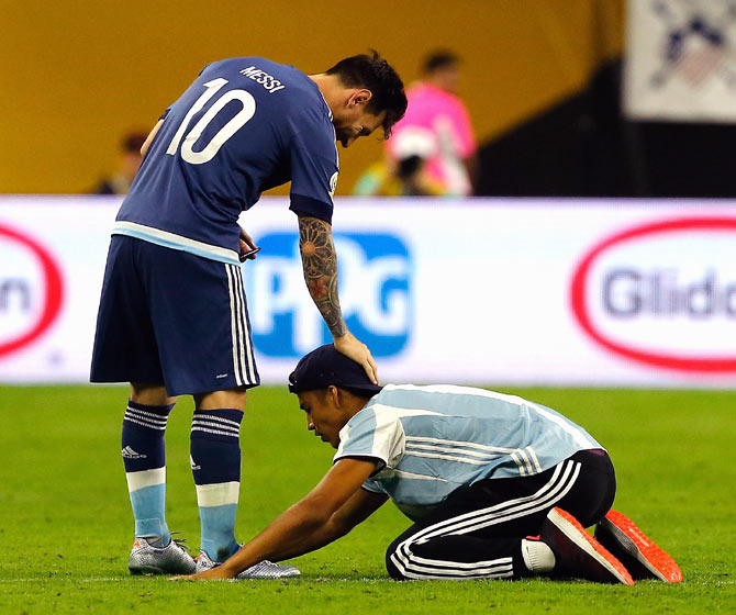 Messi From Red Card On Debut To Argentina S All Time Top Goalscorer Rediff Sports