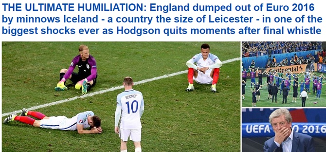 How the British media reacted to England's worst loss