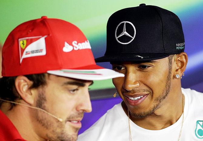Sad Alonso, Hamilton hit out at 'broken F1'