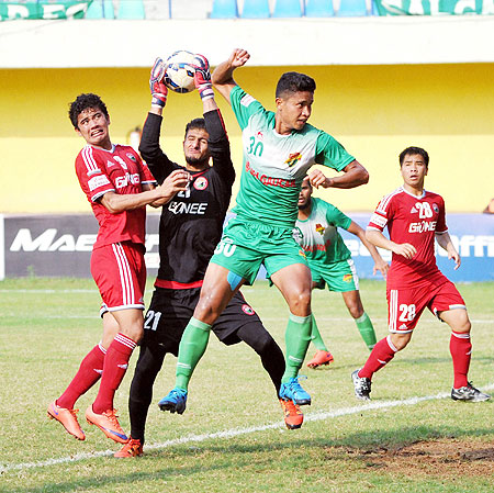Salgaocar FC defeated Shilong Lajong1-0 in the I-League match played at Vasco in Goa on Saturday