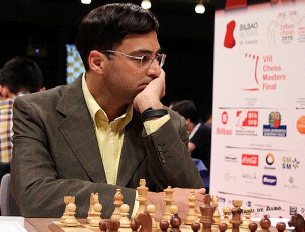 India's Viswanathan Anand looks pensive