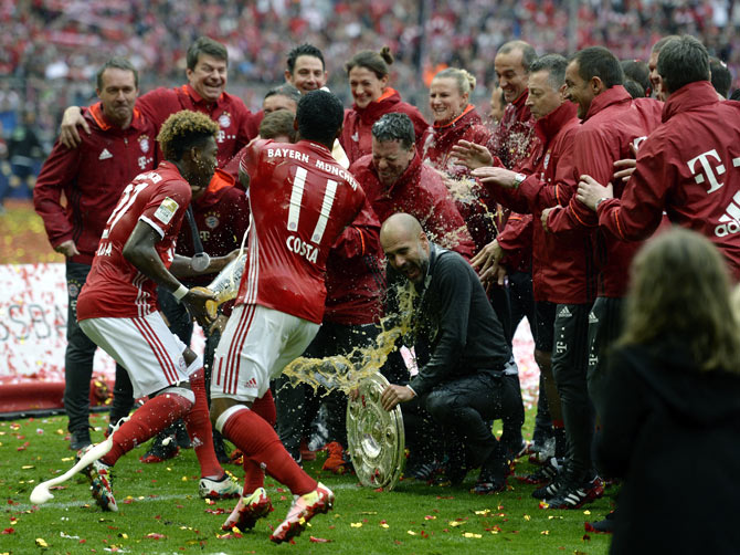 Bayern Munich's players