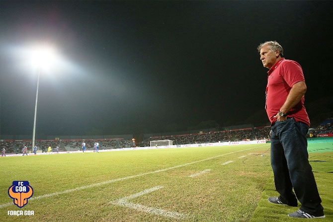 FC Goa manager Zico looks on