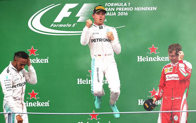 PHOTOS: Rosberg wins Italian GP, cuts Hamilton's lead
