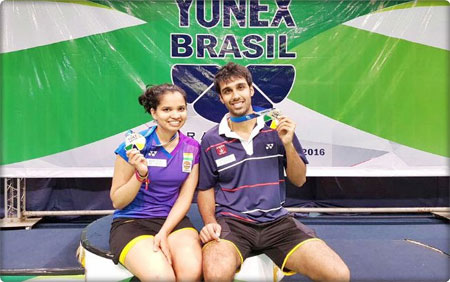 Sikki Reddy and Pranaav Chopra celebrate after their title win on Sunday