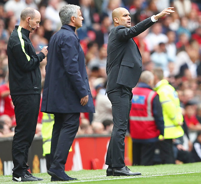 Mourinho cries foul but Guardiola delighted