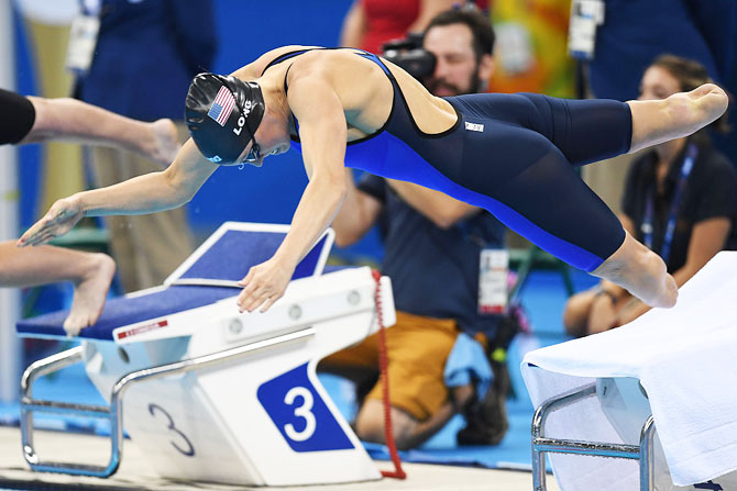Jessica Long of the USA competes in women's 100m freestyle - S8 final during day 4 of the Rio 2016 Paralympic Games at the Olympic Aquatics stadium in Rio de Janeiro on Sunday, September 11