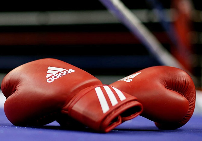 A detailed view of the boxing gloves ringside. Image used for representational purposes