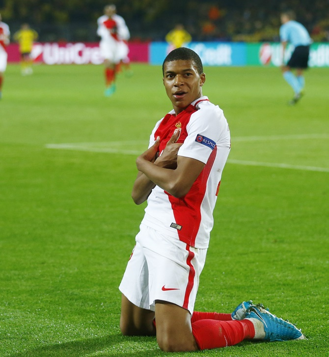 18-year-old Kylian Mbappe-Lottin was the highest goal-scorer for Monaco last season