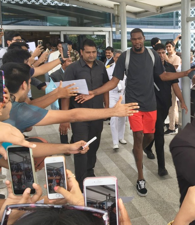 62bf7b0ea84 IMAGE  NBA star Kevin Durant in India. Photograph  Kevin Durant Twitter.