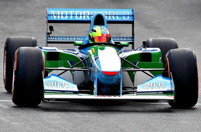 PHOTOS: Schumacher's son Mick takes father's 1994 car for a spin