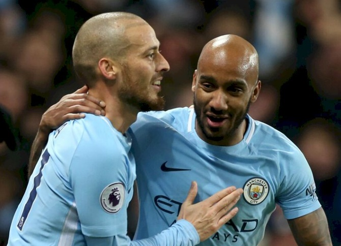 EPL: Late Silva goal extends City's winning run to 13 games