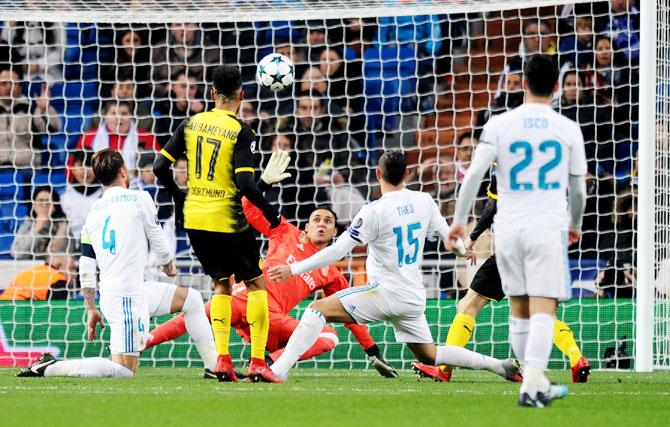 Champions League Real Edge Dortmund After Ronaldo Record