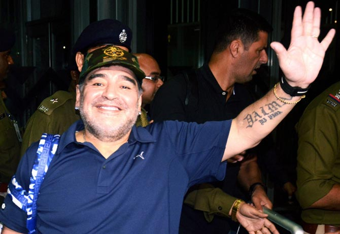 Maradona, who was an erratic and brilliant striker and is widely considered to be one of the greatest players of all time, most recently coached in Mexico, where he led second division side Dorados of Sinaloa to two unsuccessful playoff appearances.