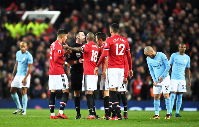 EPL: Guardiola responds after Mourinho blames ref for United's loss