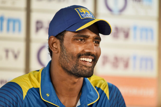 Vizag: Sri Lanka's captain Thisara Perera addressing the media on Saturday