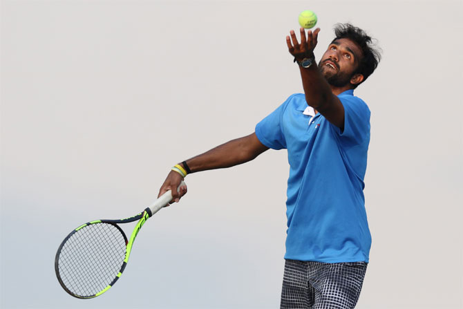 Arjun Kadhe at a practice session in Pune