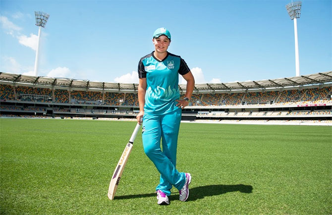 Ashleigh Barty played for Melbourne Heat in the Women's Big Bash League