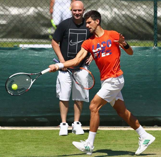 Agassi on how he plans to help Djokovic find the killer touch